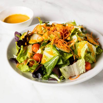 Field Green Salad with Ginger Dressing