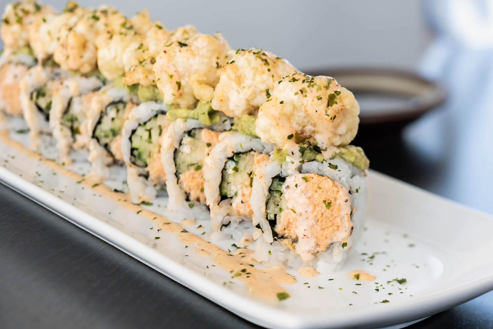 Rock Shrimp & Blue Crab Roll