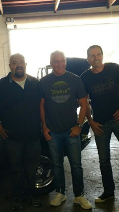 Ralph, Pastor Greg, and Pastor Steve with the Steve McQueen Bullitt