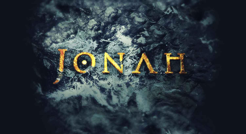 ocean waves crashing on the name Jonah