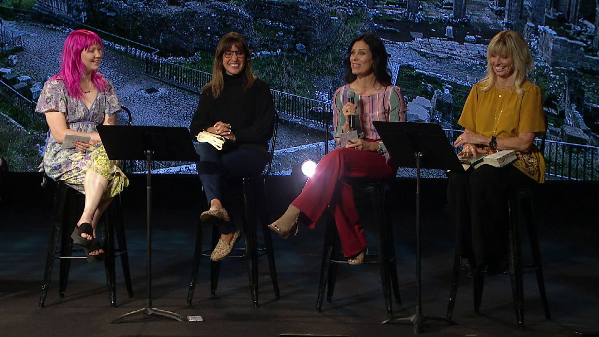 "teachers Mary Ives, Melanie Brown, Cami Huffman and Shelley Hurley share a message from Romans 16 in our ""Relentless Grace"" series at Harvest Christian Fellowship."