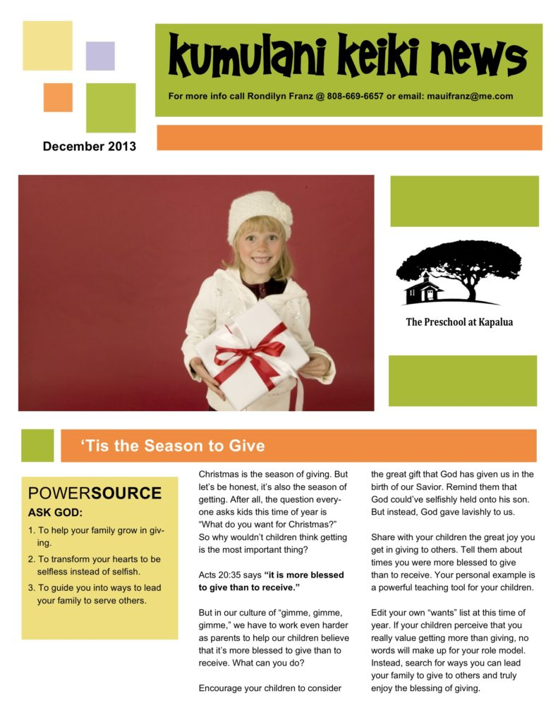 Dec13 newsletter