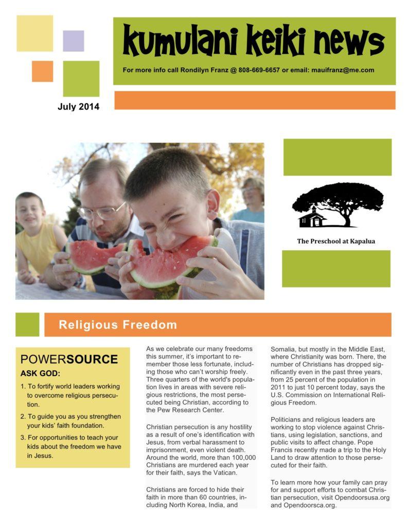 Jul14 newsletter