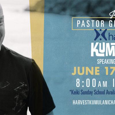 Pastor Greg Speaking Live June 17th & 24th 2018