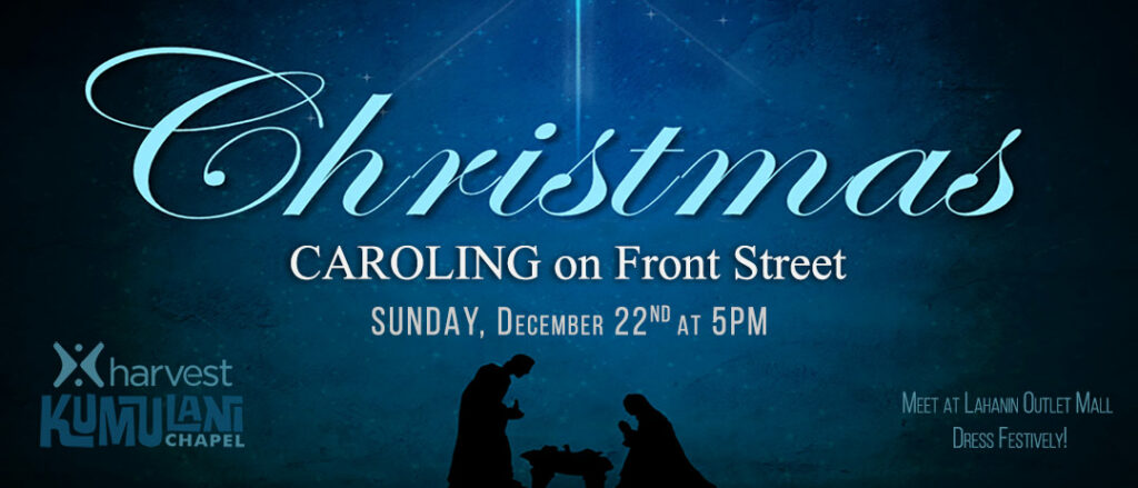 Christmas Caroling on Front Street