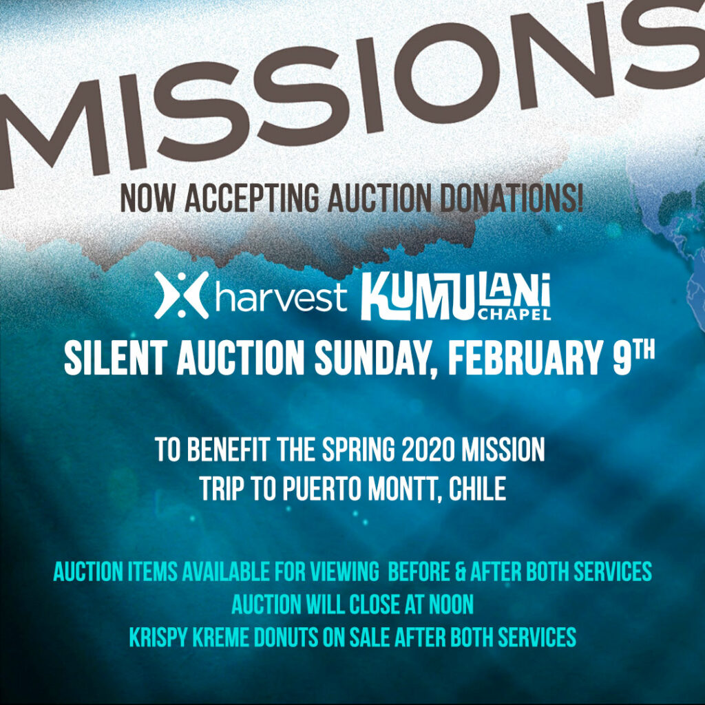 Silent Auction Missions Fundraiser