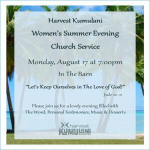 Women's Summer Evening Church Service