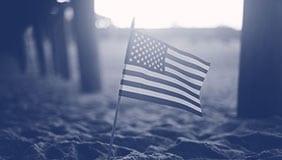 Military Appreciation Night Flag on a beach in SoCal