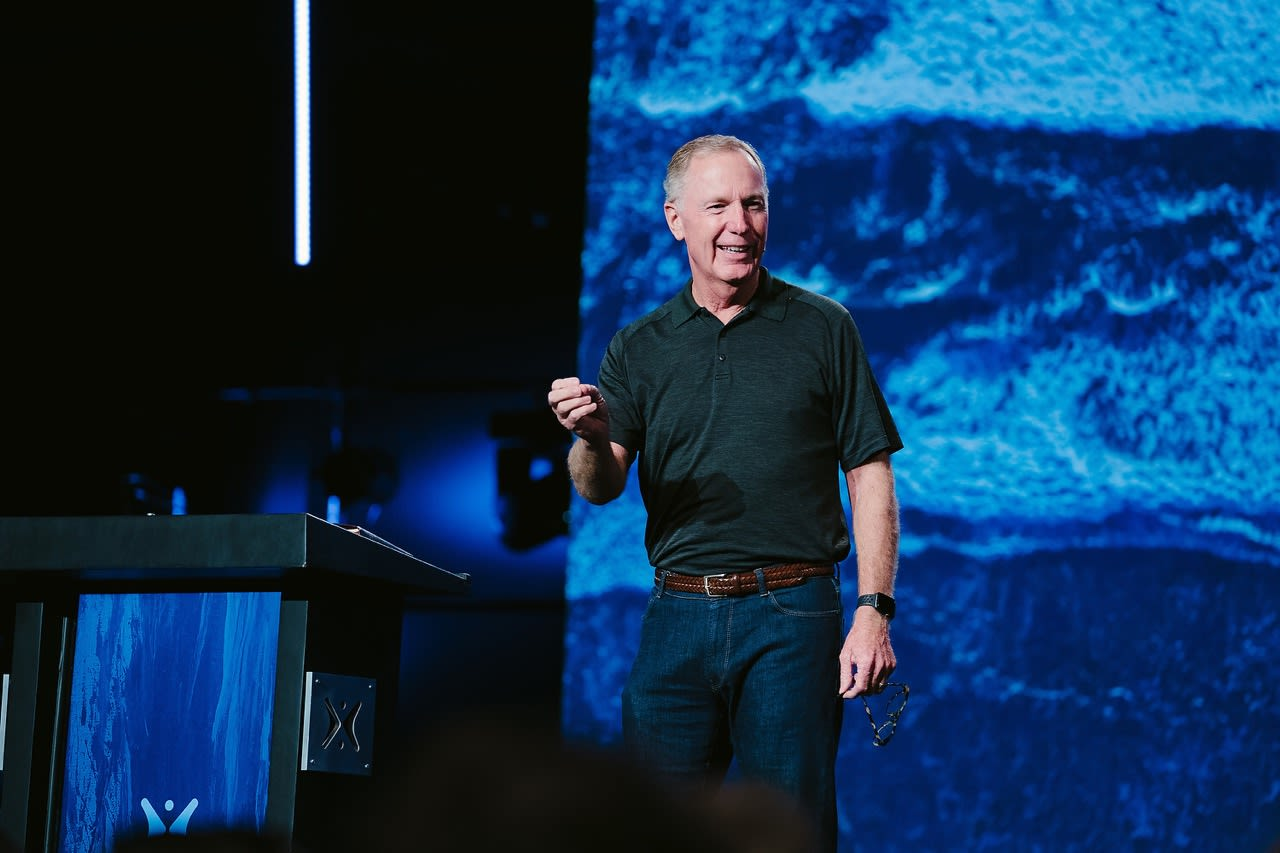 """Pastor Max Lucado shares a message from Acts 20 titled """"How Happiness Happens"""" in our """"Sunday Morning"""" series at Harvest Christian Fellowship."""