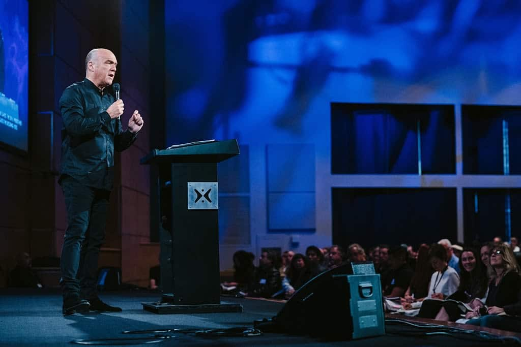 "Greg Laurie at Harvest Christina Fellowship teaches a message entitled ""God Keeps His Promises!"""