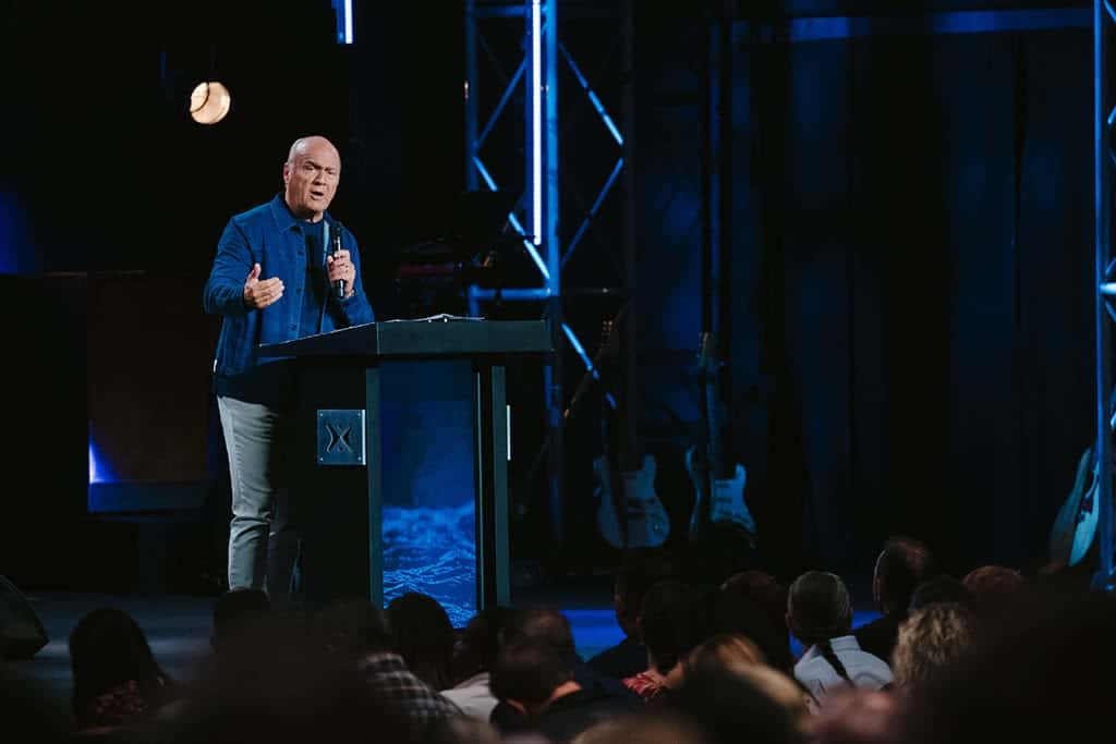 """Greg Laurie shares a message from Matthew 6 and Philippians 4 titled """"God's Answer to Fear, Worry, and Anxiety, Part 3"""" at Harvest Christian Fellowship."""