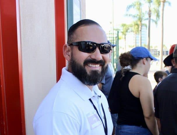 Security man at 2019 SoCal Harvest