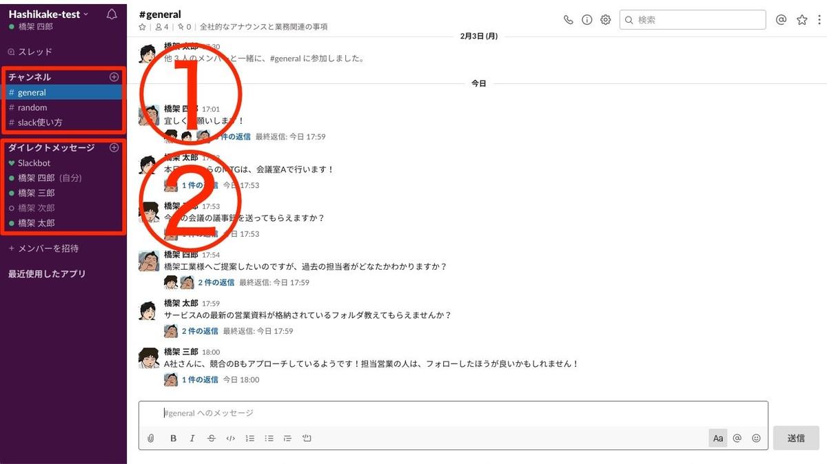 Slack(スラック)の「チャンネル」と「ダイレクトメッセージ」