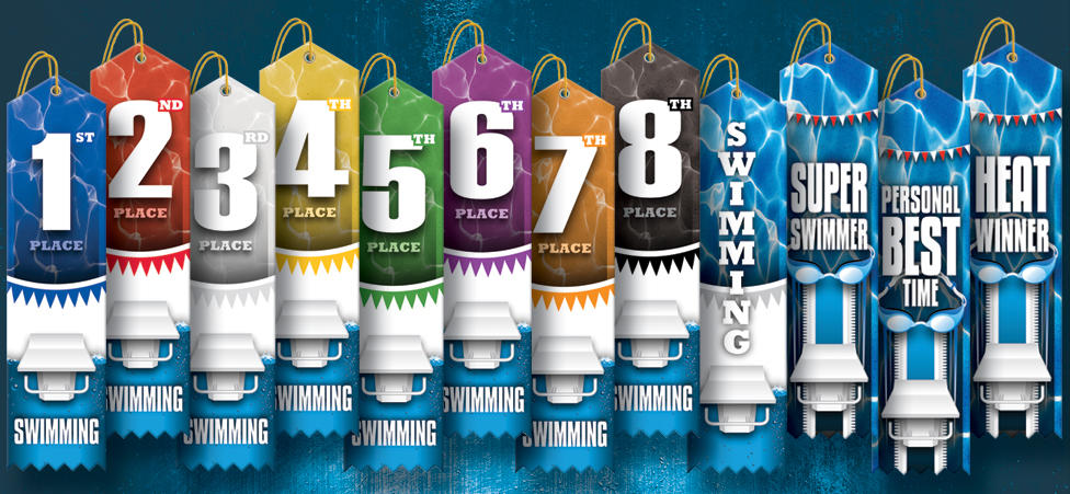 2019 SUBLIMATED SWIMMING RIBBONS