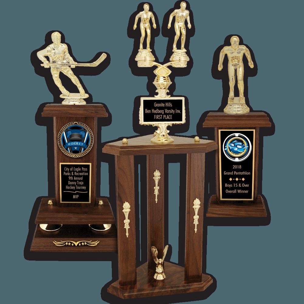 Baseball Softball Solid Walnut Trophies