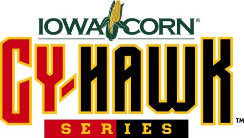 Iowa Corn Cy-Hawk Series Logo