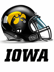 2014 Iowa Football Helmet Graphic