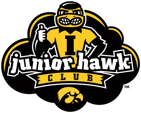 Junior Hawk Club logo featuring a cartoon Herky with a thumbs up