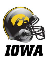 in editorial iowa football helmet graphic