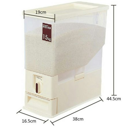 Japanese Rice Dispenser Food Storage Container Box 15kg-Free Shipping