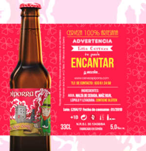 Cerveza Irish Red Corn de Piporra