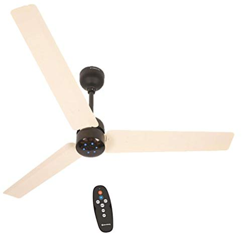 Atomberg Renesa 1200 mm BLDC Motor with Remote 3 Blade Energy Saver Ceiling Fan (Ivory & Black, Pack of 1)