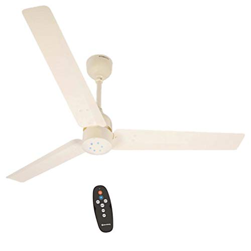 Atomberg Renesa 1200 mm BLDC Motor with Remote 3 Blade Energy Saver Ceiling Fan (Ivory, Pack of 1)
