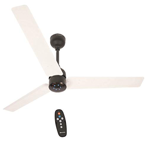 Atomberg Renesa 1200 mm BLDC Motor with Remote 3 Blade Energy Saver Ceiling Fan (White & Black, Pack of 1)