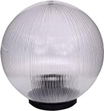 """Pamma 10"""" Dome Shape Modern Outdoor Pillar Gate Light For Home (Clear)"""
