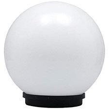 """Pamma 12"""" Dome Shape Modern Outdoor Pillar Gate Light For Home  (Milky)"""