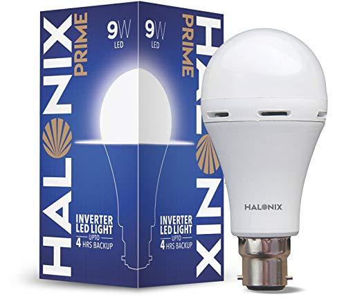 Halonix Invertor LED Bulb 9W B22 Cool White (Rechargeable Emergency Bulb)