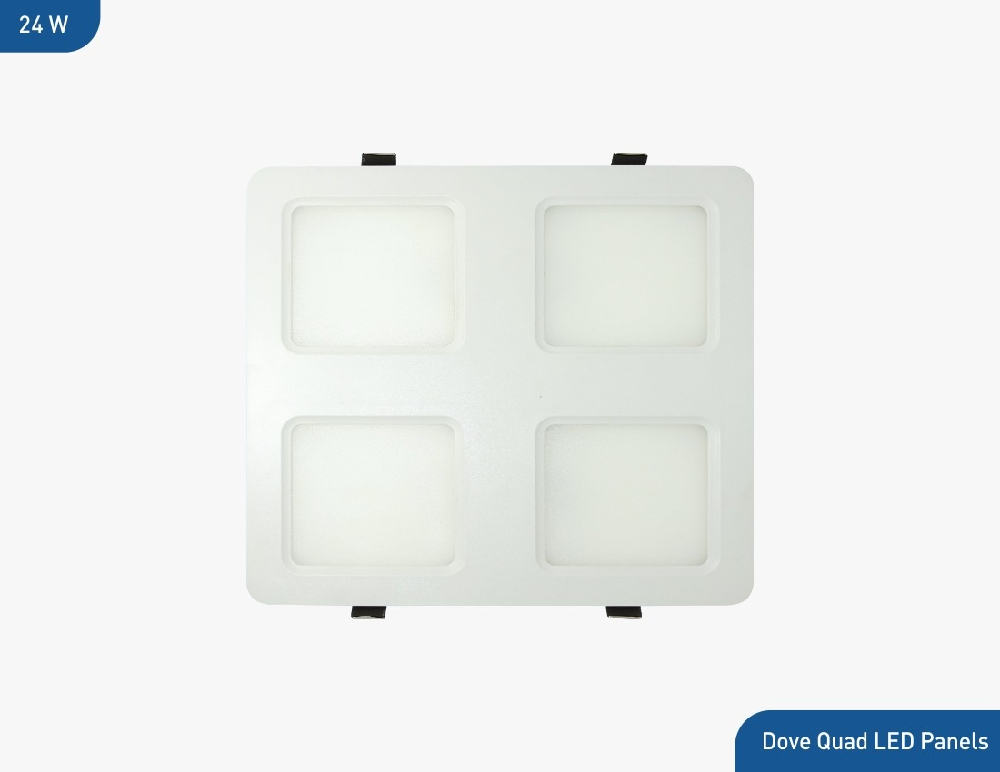 Bluebird LED Quad Backlit Panel 24 Watt, 220-240V (Cool White/Natural White/ Warm White)