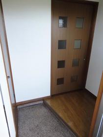 フラット'95 202号室の玄関