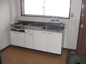 聚秀館 201号室のキッチン