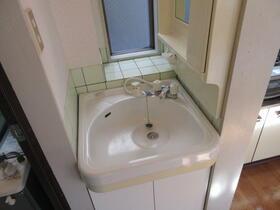 中道ハイツ 201号室の洗面所