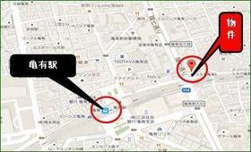 コスモ亀有Ⅴ 803号室の地図