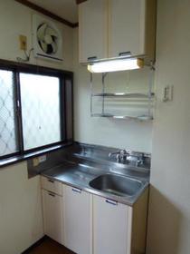 ハイツコウガクA 203号室のキッチン