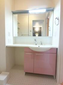 コ・クリエ B 201号室の洗面所