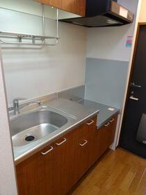 ヒルトップテラス三春台 102号室のキッチン