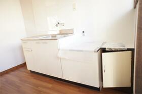 パシフィックハイツB、C B9号室のキッチン