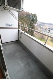 ハピネスソルファ 603号室 603号室のバルコニー