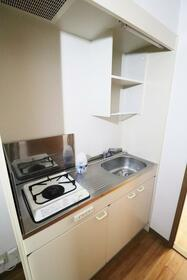 ハピネスソルファ 610号室 610号室のキッチン