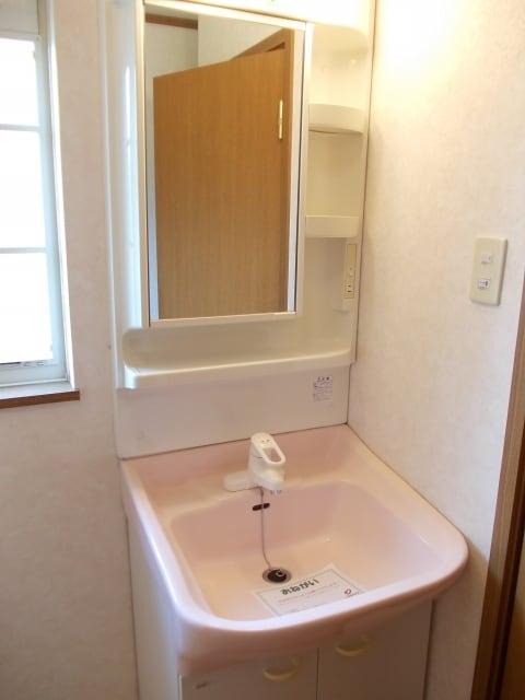 コスモスB 203号室の洗面所