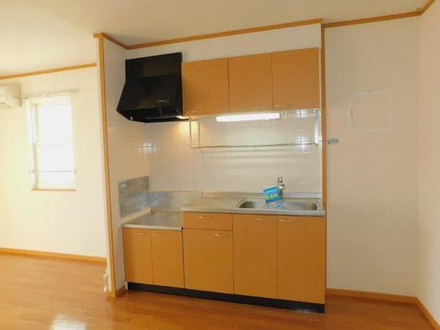 リバーサイド鬼怒C 205号室のキッチン