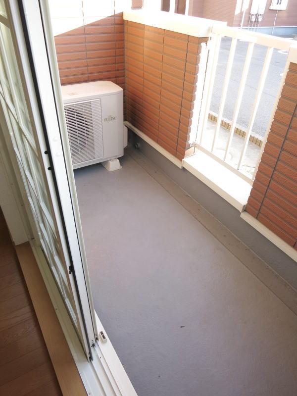 ファインA 101号室のバルコニー