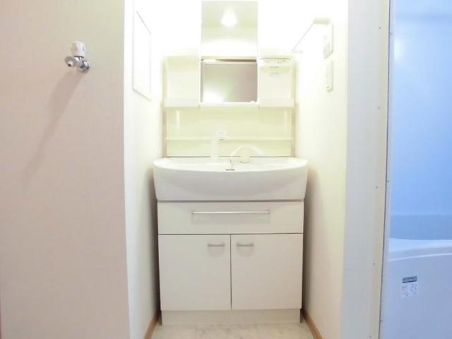 グラースA 02030号室の洗面所
