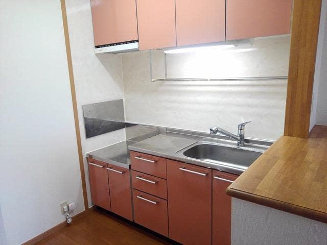 クリスタルガ-デンB 02010号室のキッチン