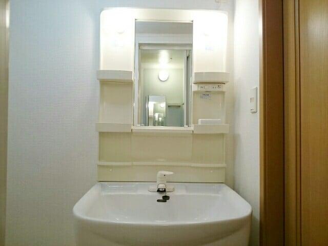 アンソレイエⅢ 101号室の洗面所