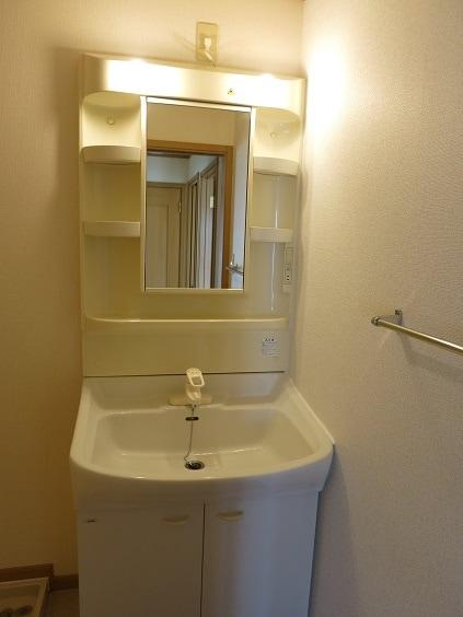 ソレアード B 201号室の洗面所