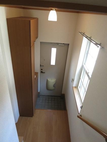 ソレアード B 201号室の玄関